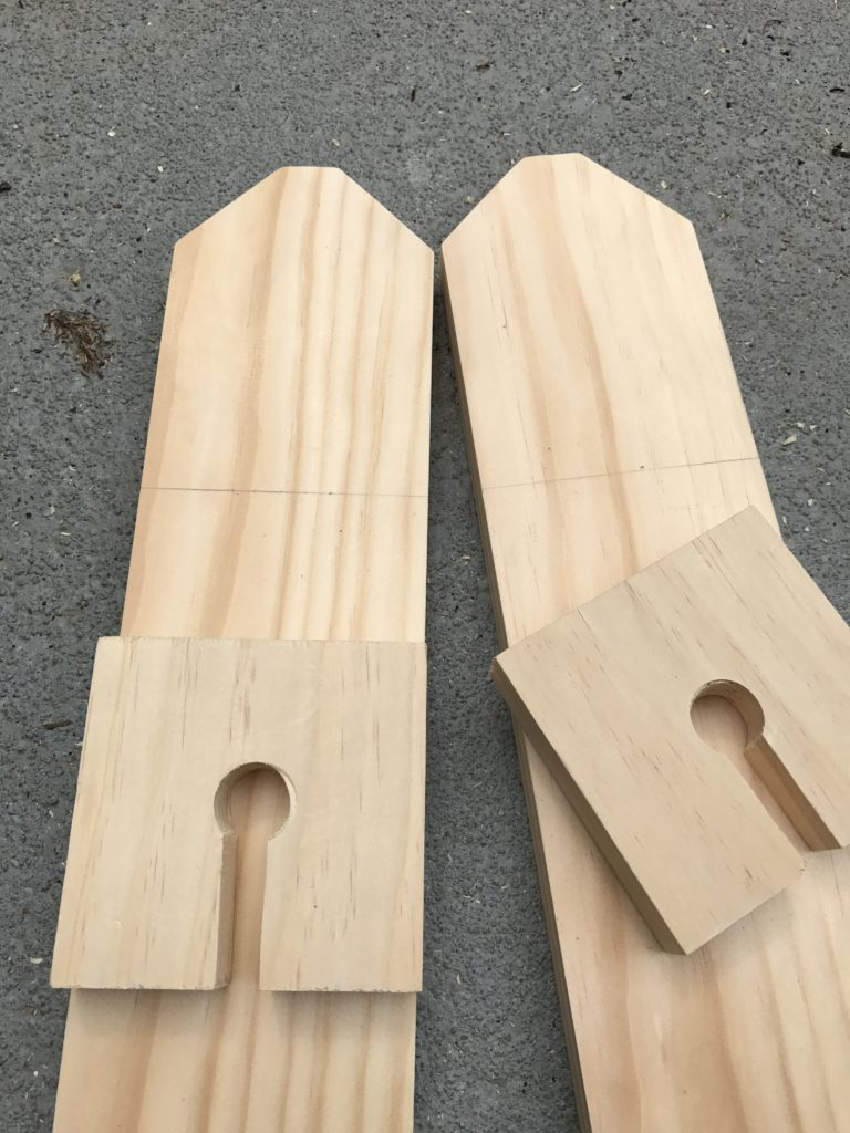 sides cut out for wine glass caddy