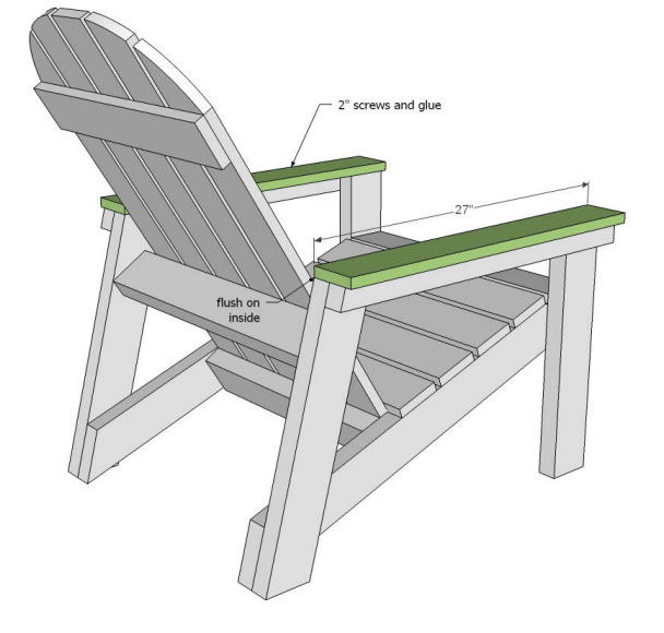 Adirondack chair plans for armrests