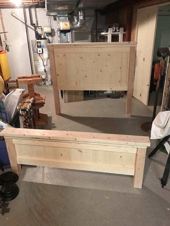 Farmhouse Bed headboard and footboard