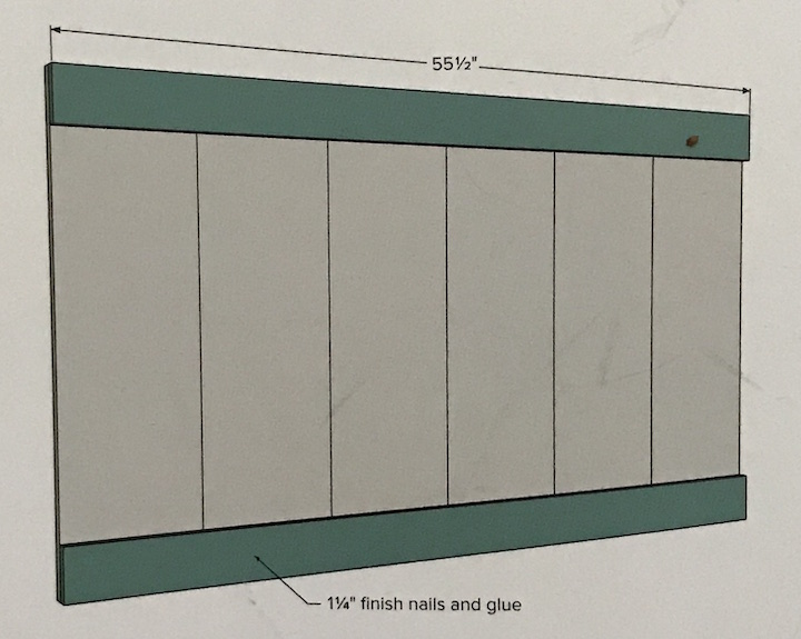 instructions for bed headboard
