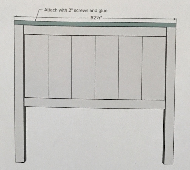 instructions for Farmhouse Bed headboard
