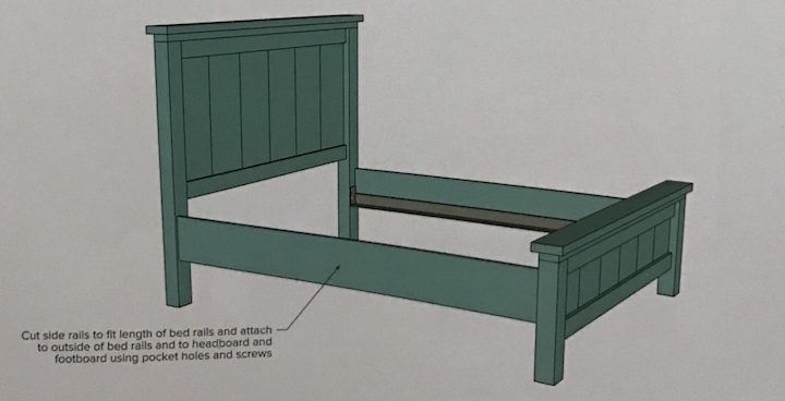 instructions for Farmhouse Bed side rails