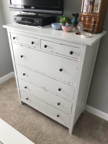 whole view of reinvented IKEA dresser hack