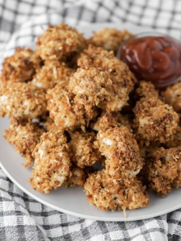 baked chicken nuggets on plate