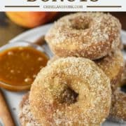 baked donuts on plate