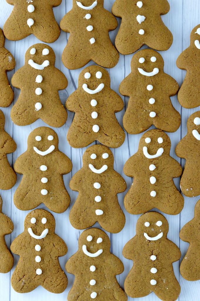 overlay of homemade gingerbread cookies