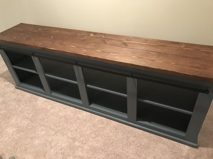 attaching top to entertainment center