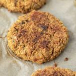quinoa burger on parchment paper