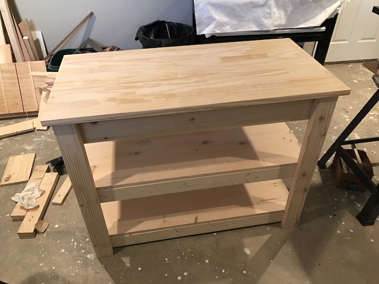kitchen island plan completed