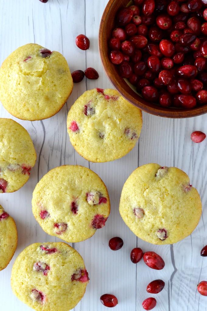overlay of cranberry orange muffins recipes