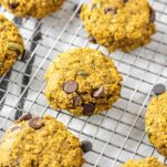 pumpkin breakfast cookies on cooling rack