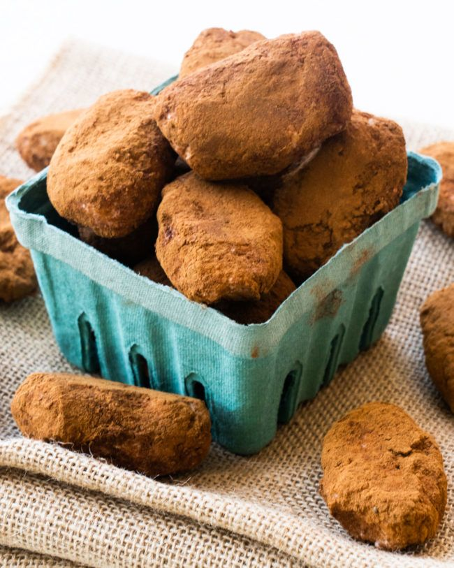 Irish potato candy in bowl