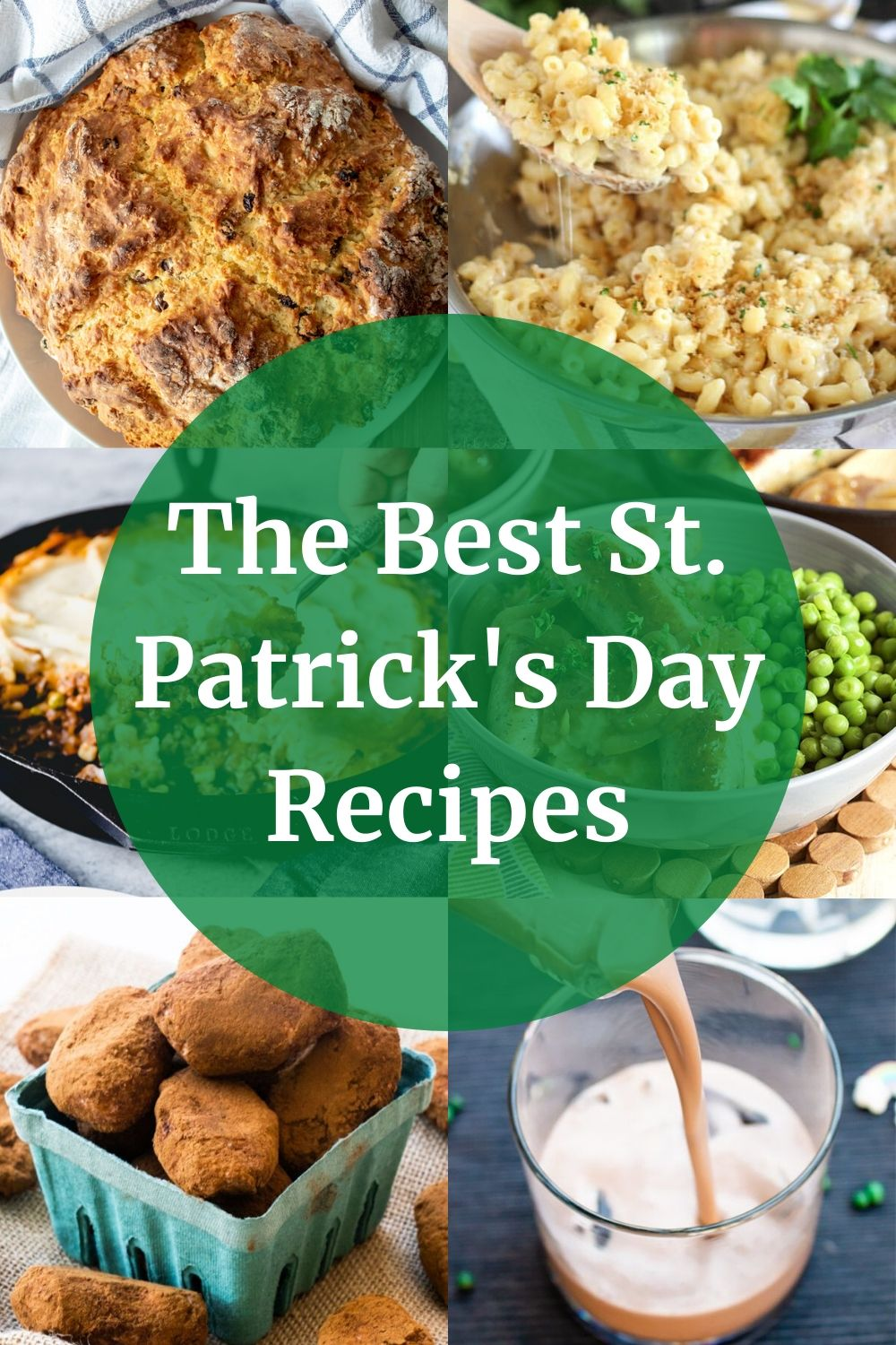 collage of different St. Patrick's Day recipes