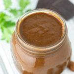 mole sauce in glass jar