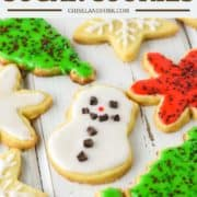 homemade sugar cookies on white board