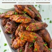 honey BBQ chicken wings on white plate