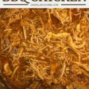overhead shot of BBQ chicken in Instant Pot