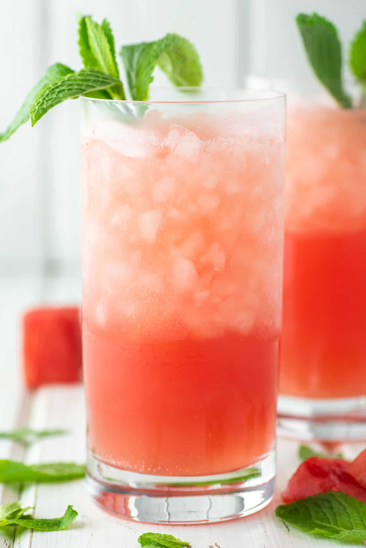 two glasses of watermelon crushes