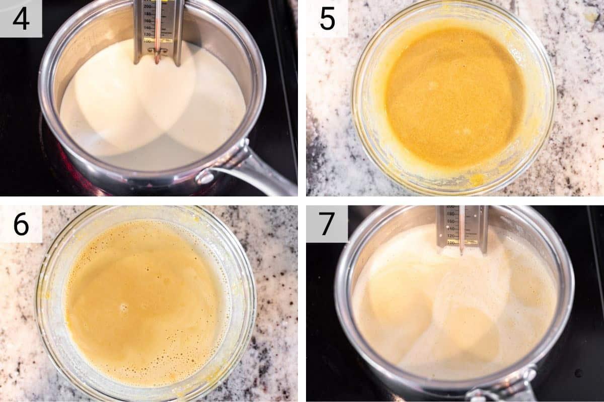process shots of making ice cream