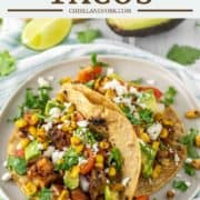 crispy potato tacos on plate